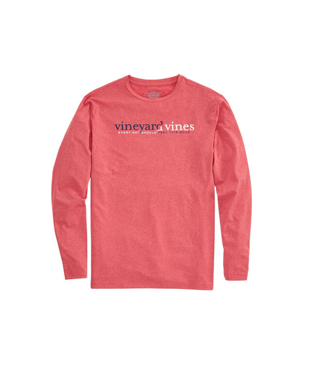 Long-Sleeve Performance Heather Split vineyard vines T-Shirt