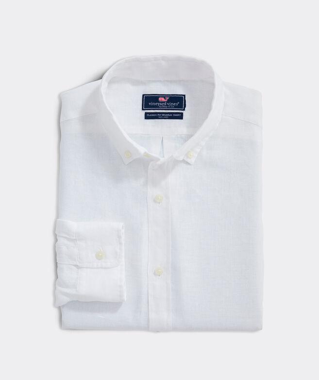 Classic Fit Windward Linen Button-Down Shirt