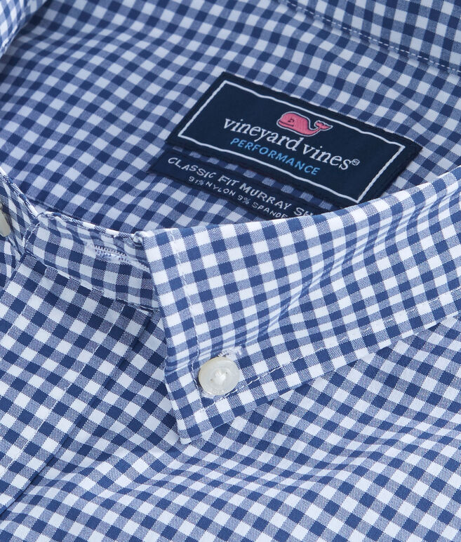 Seaglass Gingham Performance Classic Murray Shirt