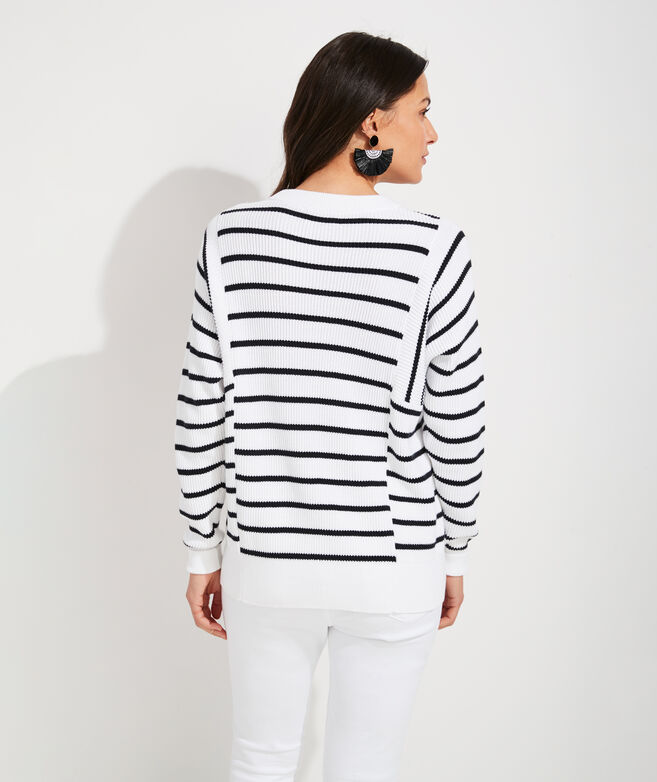 Mixed Stripe Crewneck Sweater