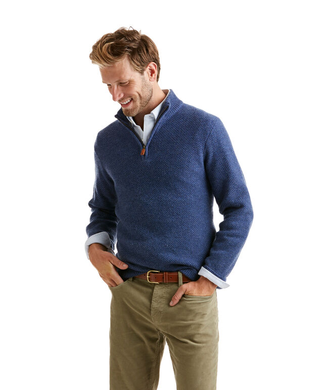 Float Stitch Cashmere 1/4-Zip