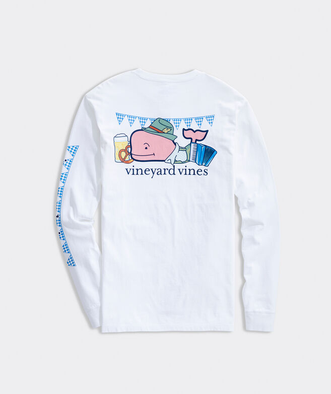 Biergarten Whale Long-Sleeve Pocket Tee
