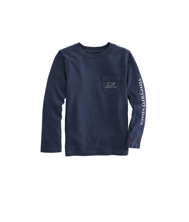 Baby Long-Sleeve Vintage Whale Tee (12-24 MO)