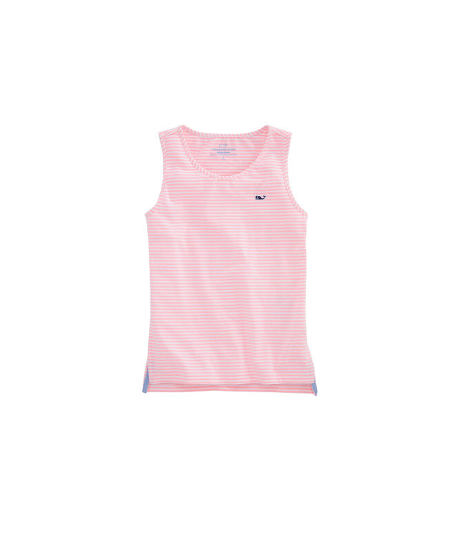 Girls Vineyard Stripe Simple Tank