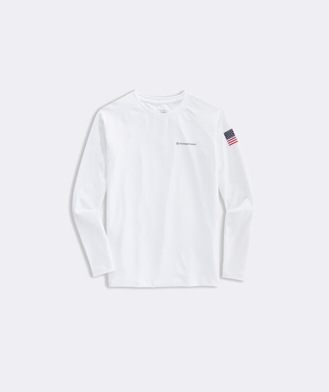 Boys' Americana Long-Sleeve Performance Tee