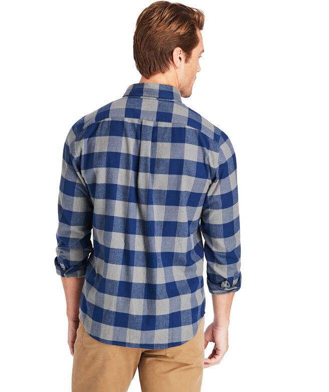 Slim Fit Squam Flannel Longshore Button-Down Shirt