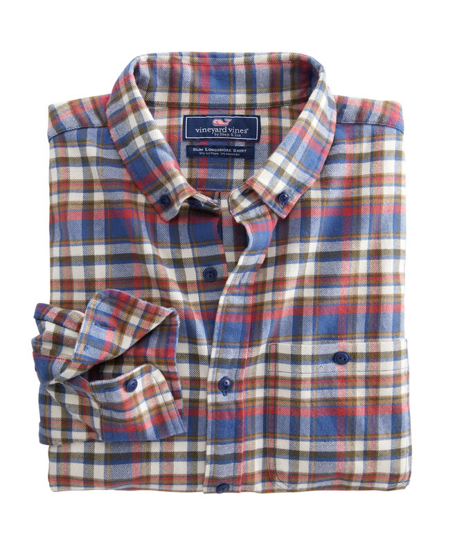 Slim Fit Firewood Flannel Longshore Button-Down Shirt