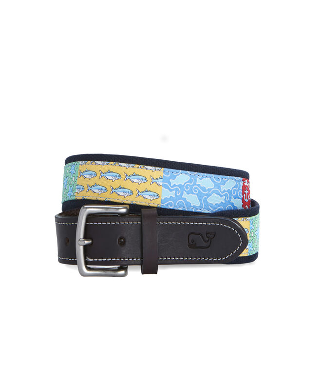 Patchwork Canvas Club Belt
