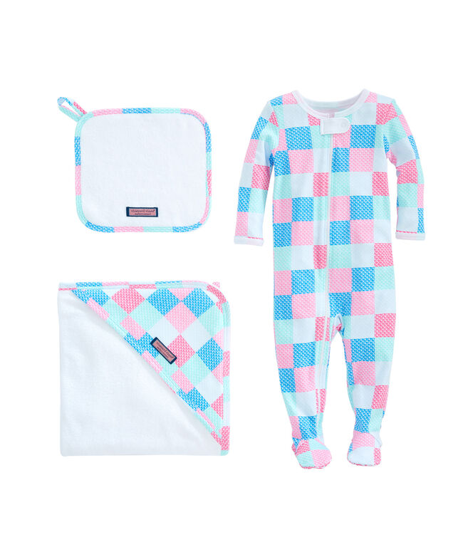 Baby Patchwork Bath To Bed Set