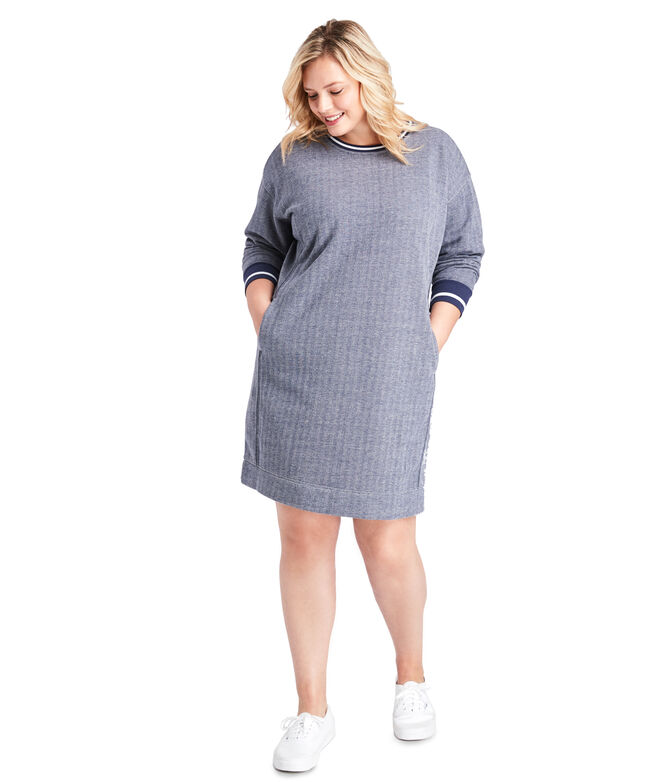 Varsity Sweatshirt Dress