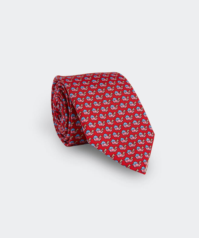 Boys' Baseball Character Whale Printed Tie