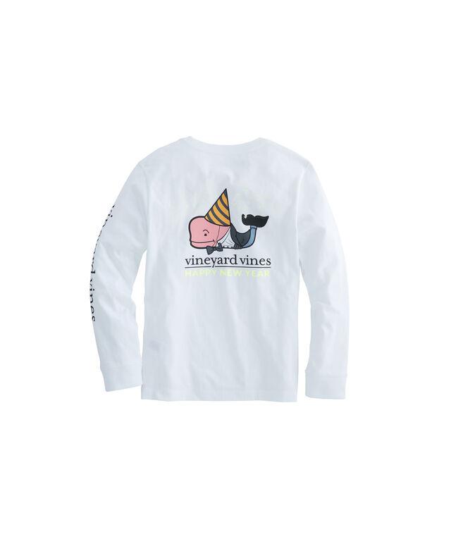 Boys Long-Sleeve Daper New Year's Pocket T-Shirt