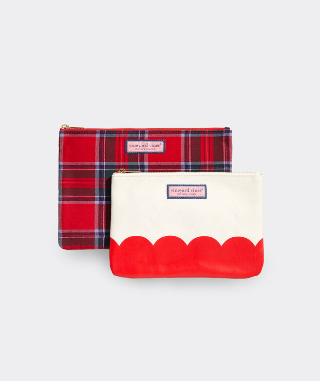 Nantucket Tartan Two-Piece Pouch Set