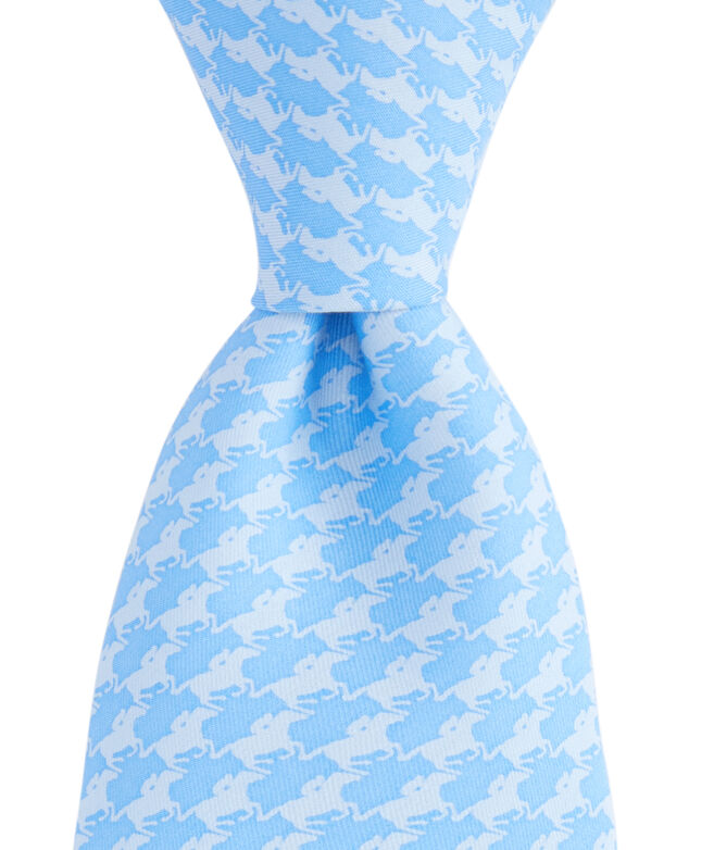 Kentucky Derby Horse Geo Printed Tie