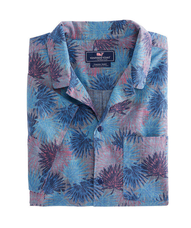 Slim Fit Flagstaff Chambray Short-Sleeve Cabana Collar Shirt