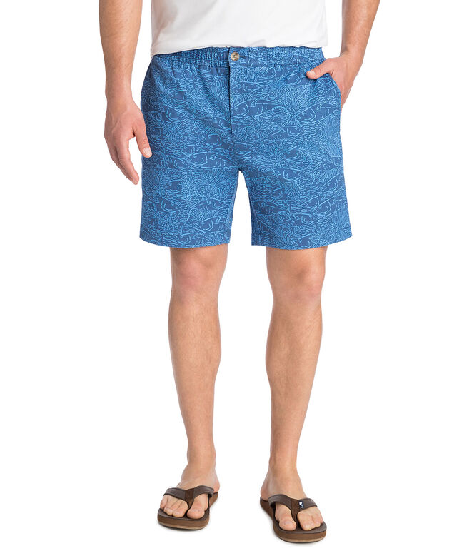 7 Inch Tonal Printed Jetty Shorts