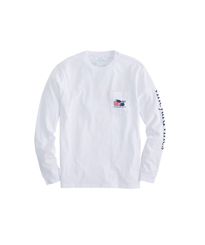 Long-Sleeve Graduation Whale T-Shirt