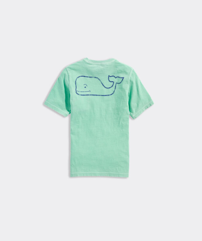 Boys' Short-Sleeve Garment Dyed Neon Vintage Whale Pocket Tee