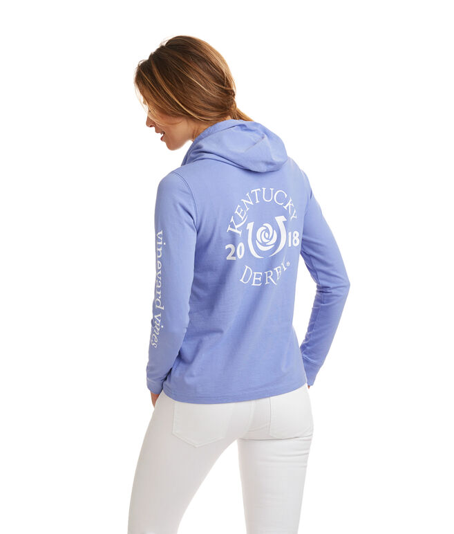 Long-Sleeve Kentucky Derby Logo Hoodie Pocket Tee