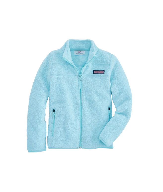 Girls Fuzzy Marina Full-Zip Fleece