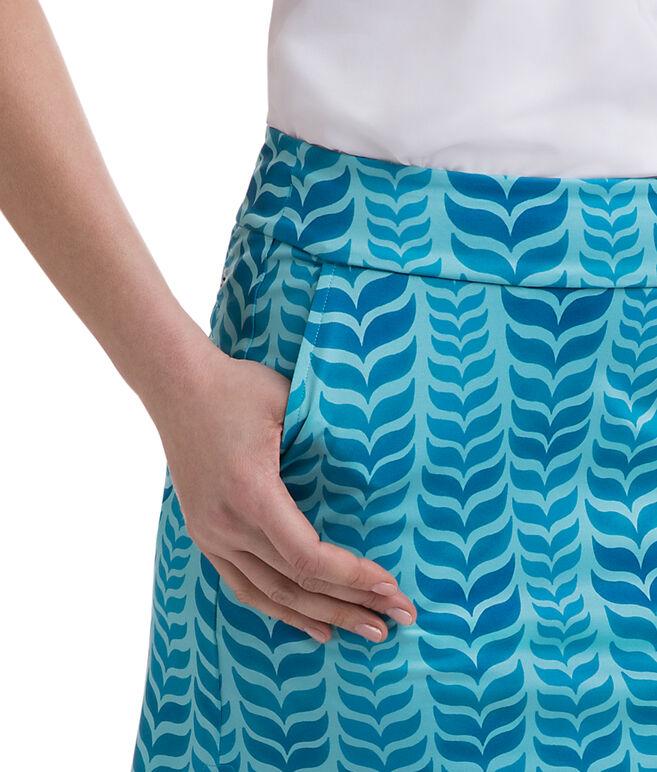 Whale Tail Printed Golf Skort
