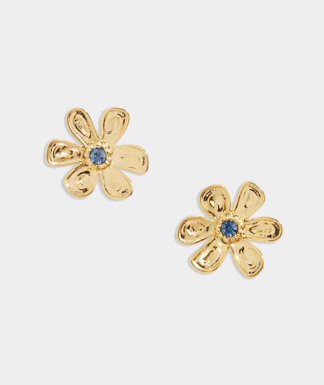 Floral Beaded Stud Earrings