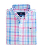 Boys Lyndale Plaid Whale Shirt