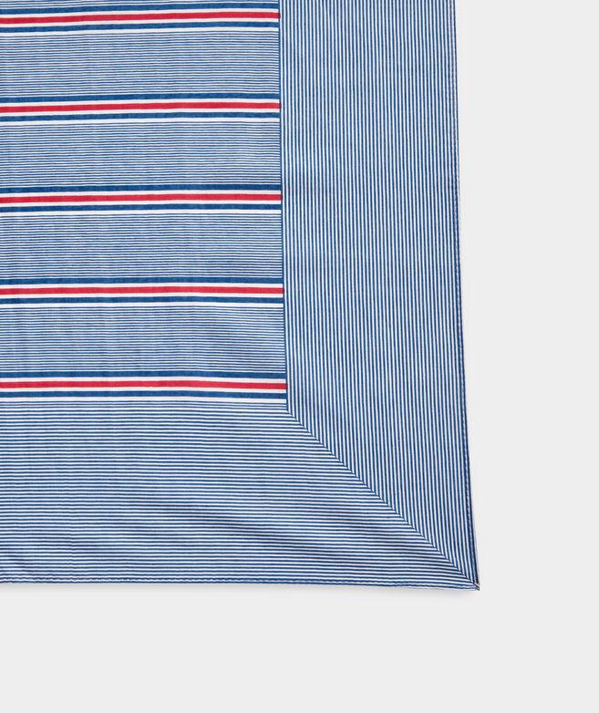 Nicholls Stripe Printed Pareo Scarf