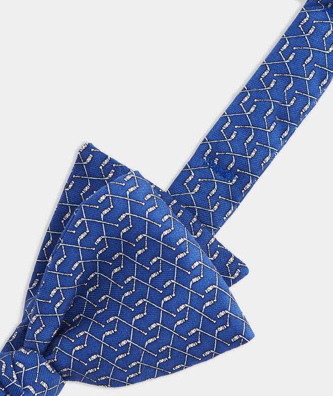 Hockey Sticks Printed Bow Tie