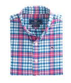 Boys Piper Plaid Flannel Whale Shirt