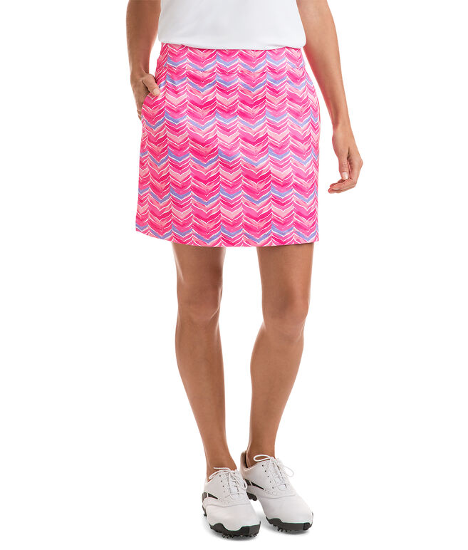 17 Inch Printed Whale Tail Skort