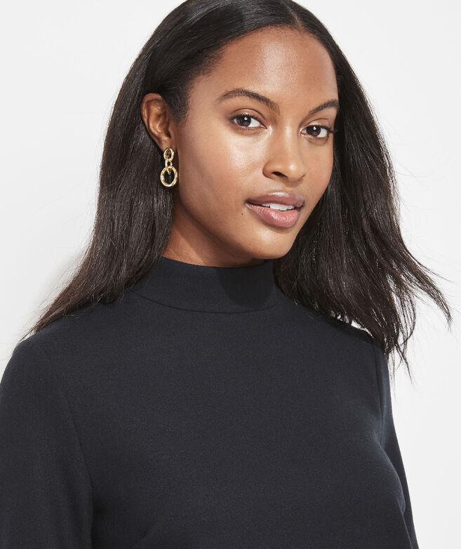 Linked Gold Hoop Earrings