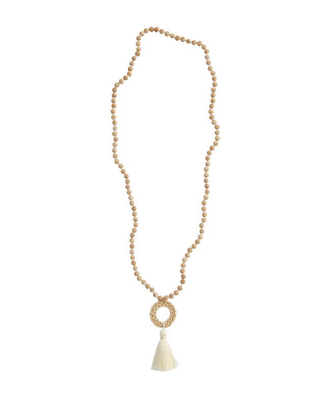 Basket Weave Tassel Necklace