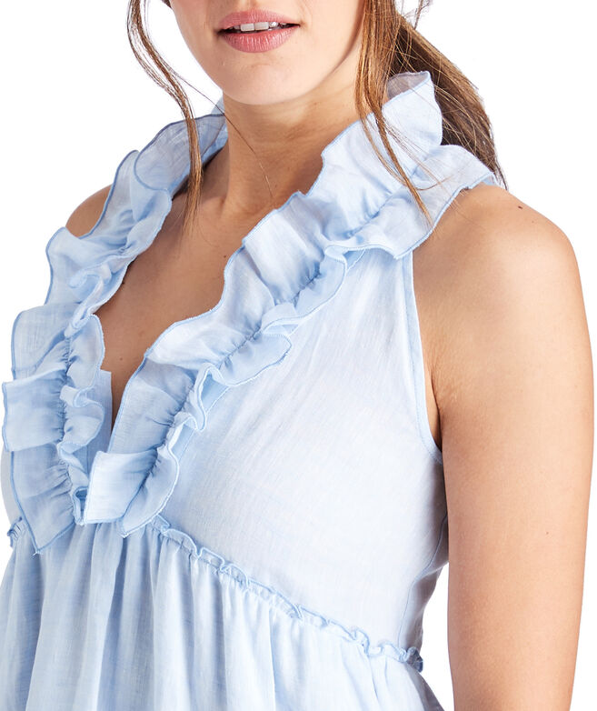 V-Neck Ruffled Tiered Dress