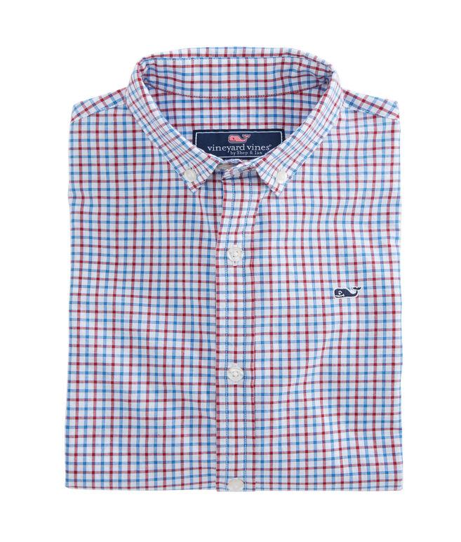 Boys Clark Grove Check Whale Shirt