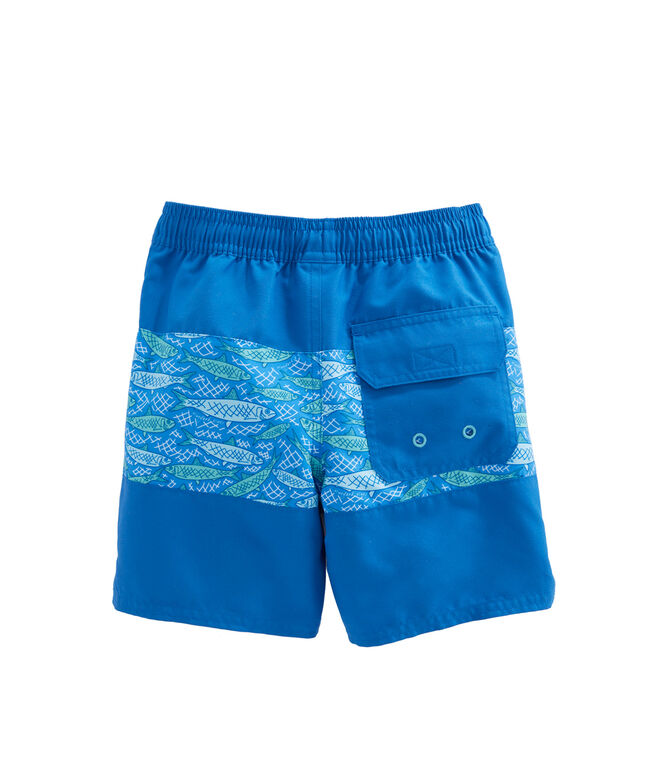 Boys Fish Scale Pieced Chappy Trunks