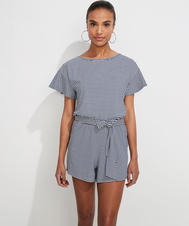 Striped Sankaty Romper Coverup