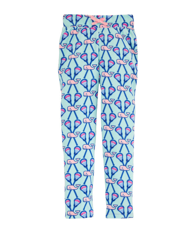 Girls Whale Fleece Pajama Pants