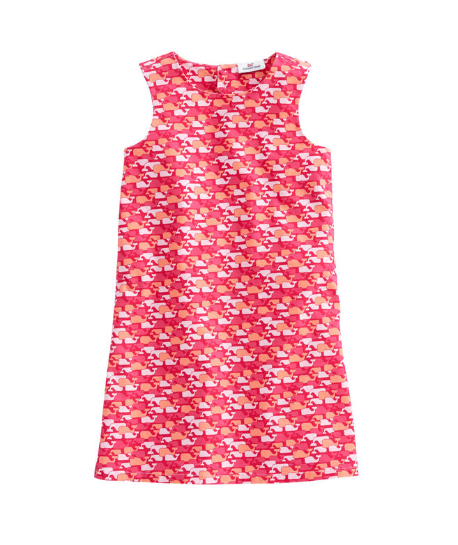 Girls Whale Outline Diamond Back Dress