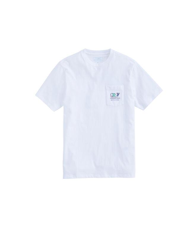 Kentucky Derby Patchwork Whale Fill Pocket T-Shirt