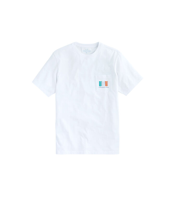 Irish Flag Whale Pocket T-Shirt