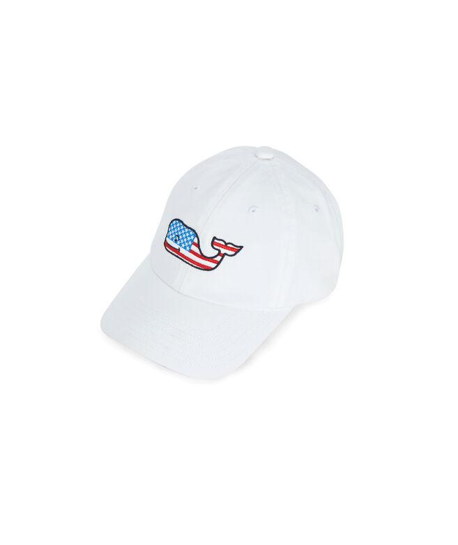 Little Kids Flag Whale Baseball Hat