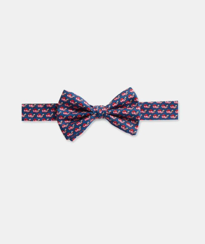 Boys' Baseball Character Whale Printed Bow Tie
