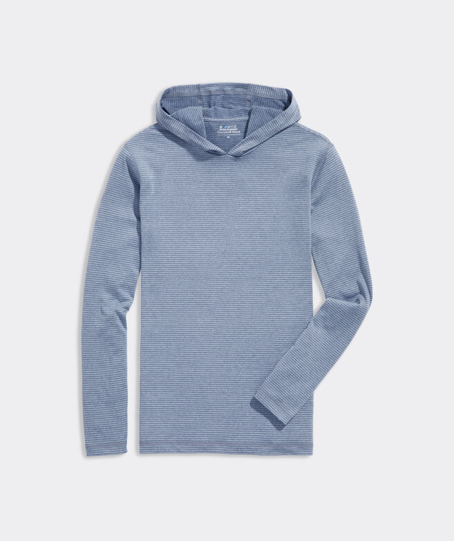 On-The-Go Striped Long-Sleeve Hoodie