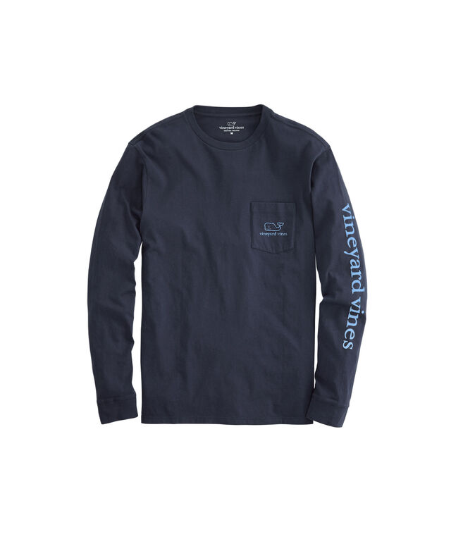 Vintage Jake Blue Whale Graphic Long-Sleeve Tee