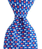 Red, White & Whale Tie