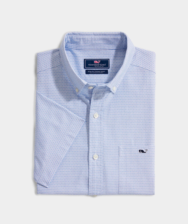 Slim Fit Dragonfish Tucker Short-Sleeve Button-Down Shirt