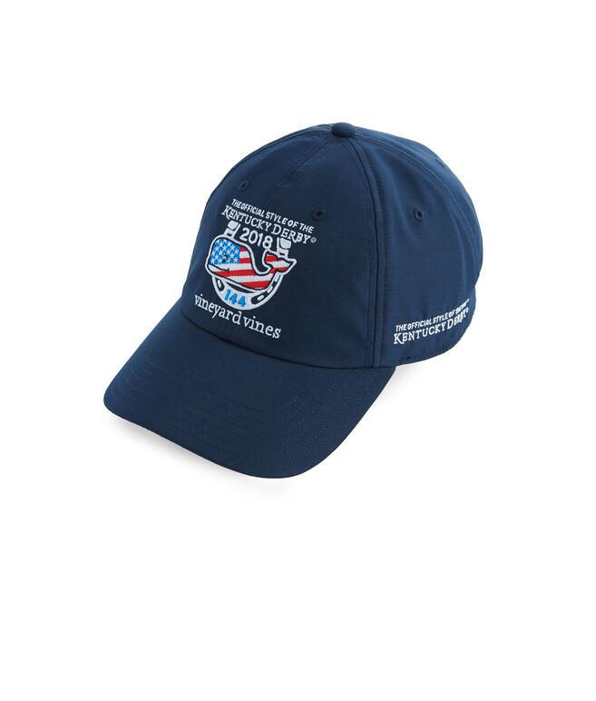 Kentucky Derby Performance Whale Flag Fill Baseball Hat