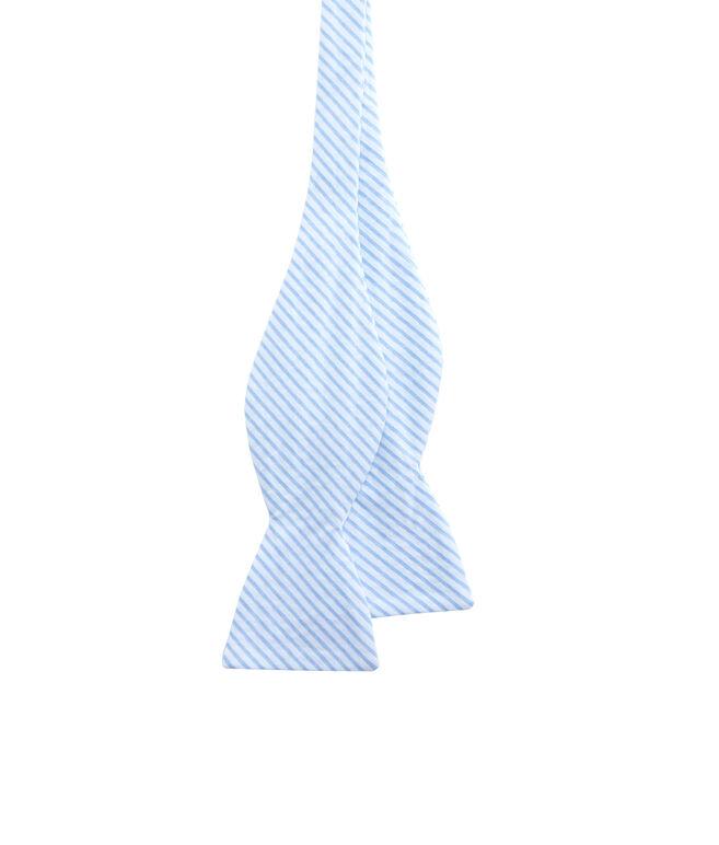 Seersucker Woven Bow Tie