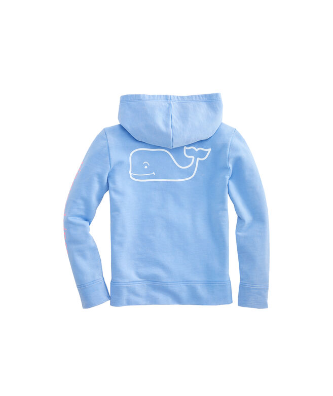 Girls Garment-Dyed French Terry Whale Hoodie